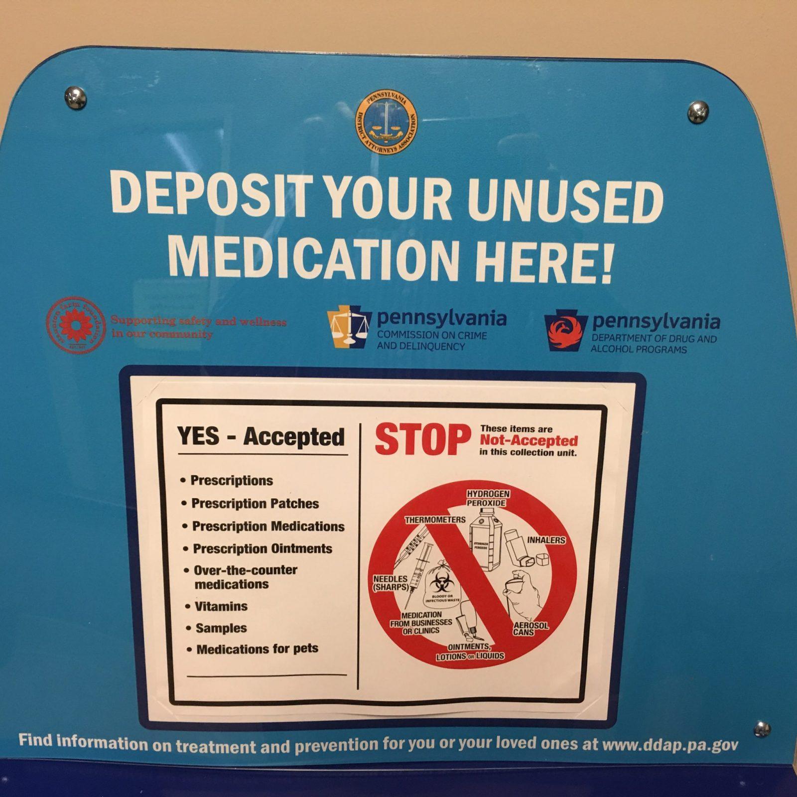 Medication Drop-Off Location | West Mifflin Borough Police